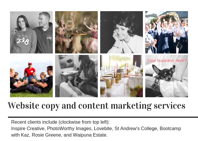 Some of the clients I've provided website content for (1)
